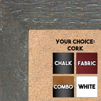 BB1555-4 Distressed Dark Gray - Extra Large Chalkboard Cork Dry Erase