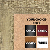 BB1555-6 Distressed Tan - Extra Large Chalkboard Cork Dry Erase