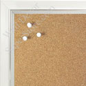 BB1560-2 Pearlized White With Silver Lip Small To Medium Custom Cork Chalk or Dry Erase Board