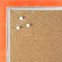 BB1560-7 Pearlized Orange With Silver Lip Small To Medium Custom Cork Chalk or Dry Erase Board