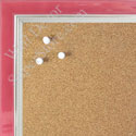 BB1560-9 Pearlized Carnation Pink With Silver Lip Small To Medium Custom Cork Chalk or Dry Erase Board