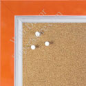 BB1561-7 Pearlized Orange With Silver Lip Large Custom Cork Chalk or Dry Erase Board