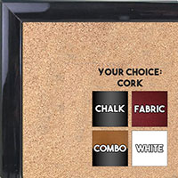 BB1562-10 Gloss Lacquer Rich Gray Wood Grain Small Custom Cork Chalk or Dry Erase Board