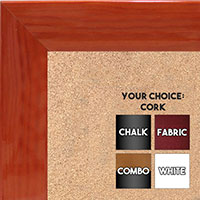 BB1563-4 Gloss Lacquer Orange Wood Grain Large  Custom Cork Chalk or Dry Erase Board