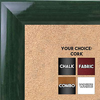 BB1563-7 Gloss Lacquer Dark Green Wood Grain Large  Custom Cork Chalk or Dry Erase Board