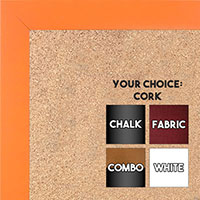 BB1564-12 Tangerine Orange Small Custom Cork Chalk or Dry Erase Board
