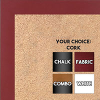 BB1564-13 Maroon Small Custom Cork Chalk or Dry Erase Board