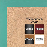 BB1564-17 Teal Small Custom Cork Chalk or Dry Erase Board