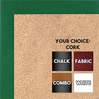 BB1564-2 Green Small Custom Cork Chalk or Dry Erase Board