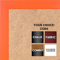 BB1564-3 Orange Small Custom Cork Chalk or Dry Erase Board
