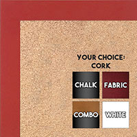 BB1564-5 Red Small Custom Cork Chalk or Dry Erase Board