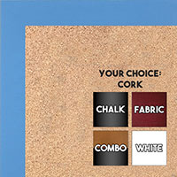 BB1564-6 Blue Small Custom Cork Chalk or Dry Erase Board