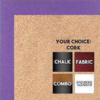 BB1564-7 Purple Small Custom Cork Chalk or Dry Erase Board