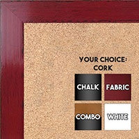 BB1566-2 Glossy Distressed Red - Medium Custom Cork Chalk or Dry Erase Board