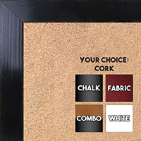 BB1566-3 Glossy Distressed Black - Medium Custom Cork Chalk or Dry Erase Board