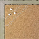 BB1567-1 Glossy Distressed Ivory - Small Custom Cork Chalk or Dry Erase Board