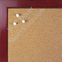 BB1567-2 Glossy Distressed Red - Small Custom Cork Chalk or Dry Erase Board
