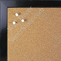 BB1567-3 Glossy Distressed Black - Small Custom Cork Chalk or Dry Erase Board