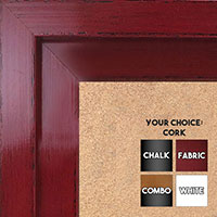 BB1568-2 Glossy Distressed Red - Extra Large Custom Cork Chalk or Dry Erase Board