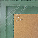 BB1568-4 Glossy Distressed Green - Extra Large Custom Cork Chalk or Dry Erase Board