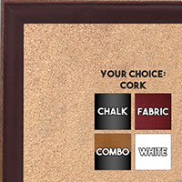 BB1569-2 Small Dark Red With Top Outside Distressed Accent Custom Cork Chalk or Dry Erase Board