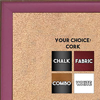 BB1569-3 Small Pink With Top Outside Distressed Accent Custom Cork Chalk or Dry Erase Board