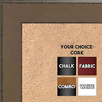 BB1570-10 Distressed Light Brown Medium Custom Cork Chalk or Dry Erase Board