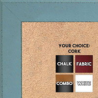 BB1570-11 Distressed Aqua Blue Medium Custom Cork Chalk or Dry Erase Board