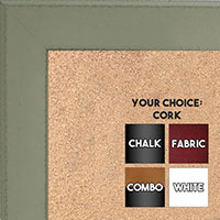 BB1570-2 Distressed Mint Green Medium Custom Cork Chalk or Dry Erase Board