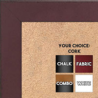 BB1570-6 Distressed Dark Red Medium Custom Cork Chalk or Dry Erase Board