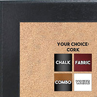BB1570-7 Distressed Black Medium Custom Cork Chalk or Dry Erase Board