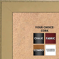 BB1570-8 Distressed Yellow Medium Custom Cork Chalk or Dry Erase Board