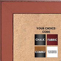 BB1570-9 Distressed Orange Medium Custom Cork Chalk or Dry Erase Board