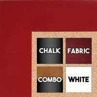 BB1586-2 Red - Extra Large Custom Cork Chalk or Dry Erase Board