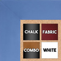 BB1586-3 Blue - Extra Large Custom Cork Chalk or Dry Erase Board