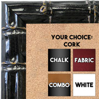 BB1611-1  Black Enamel Bamboo Wallboard Corkboard Whiteboard Chalkboard