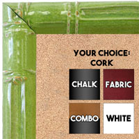 BB1611-3  Green Enamel Bamboo Wallboard Corkboard Whiteboard Chalkboard