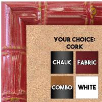 BB1611-5  Red Enamel Bamboo Wallboard Corkboard Whiteboard Chalkboard