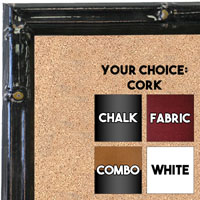 BB1612-1  Black Enamel Bamboo Wallboard Corkboard Whiteboard Chalkboard