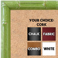 BB1612-3  Green Enamel Bamboo Wallboard Corkboard Whiteboard Chalkboard