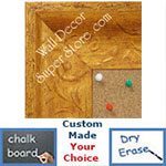 BB1613-1  Distressed Gold Custom Wallboard Corkboard Whiteboard Chalkboard