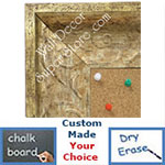 BB1613-3  Distressed Silver Custom Wallboard Corkboard Whiteboard Chalkboard