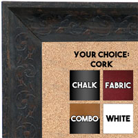 BB1614-2  Distressed Black Custom Wallboard Corkboard Whiteboard Chalkboard
