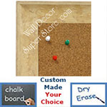 BB1614-4  Distressed Ivory Custom Wallboard Corkboard Whiteboard Chalkboard