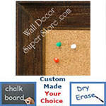 BB1615-4  Distressed Walnut Custom Wallboard Corkboard Whiteboard Chalkboard