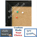 BB1616-2  Distressed Black | Custom Wallboard Corkboard Whiteboard Chalkboard