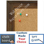 BB1616-3  Distressed Walnut | Custom Wallboard Corkboard Whiteboard Chalkboard