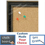 BB1622-2   Gold with Black / Design | Custom Cork Bulletin Board | Custom White Dry Erase Board | Custom Chalk Board