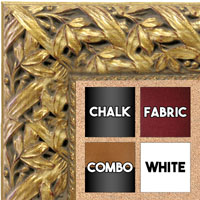 BB1624-1  Gold / Design | Custom Cork Bulletin Board | Custom White Dry Erase Board | Custom Chalk Board