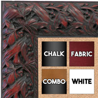 BB1624-3  Black with Red / Design | Custom Cork Bulletin Board | Custom White Dry Erase Board | Custom Chalk Board